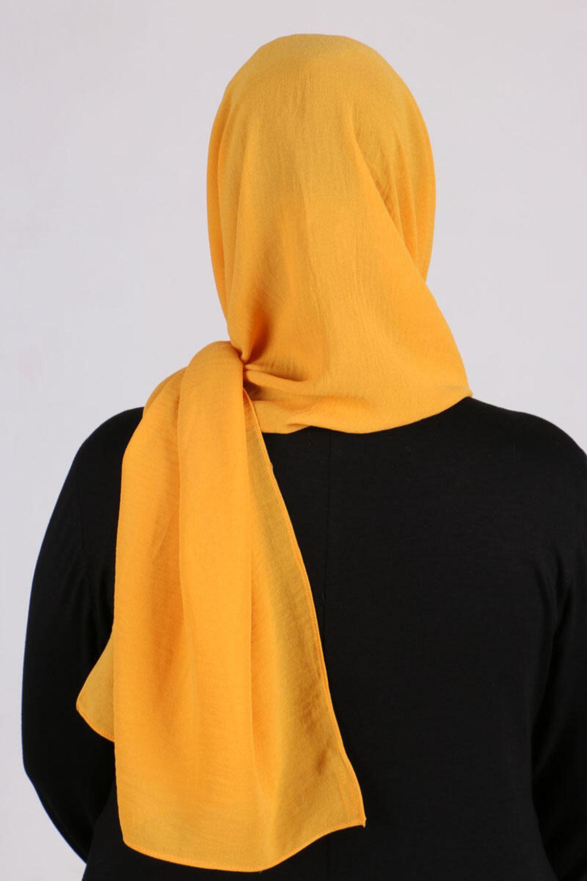508 Chiffon Shawl- Mustard