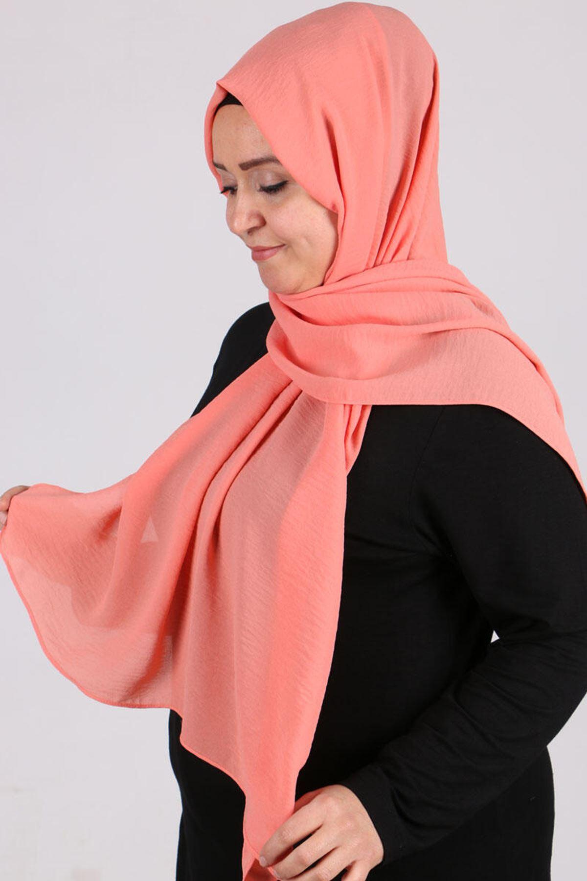 508 Chiffon Shawl- Peach Pink