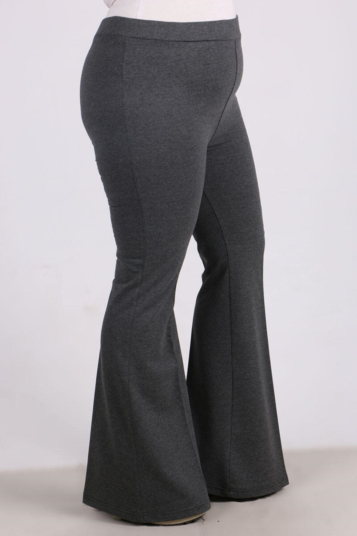 9514 Plus Size Flared Sweatpants - Anthracite