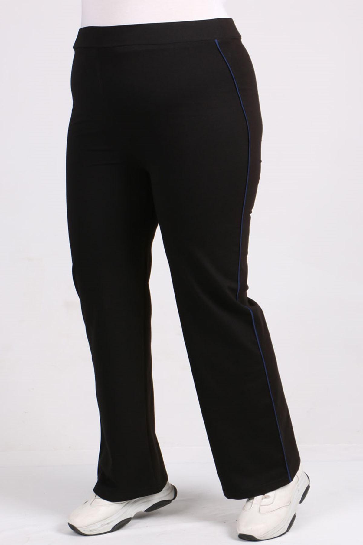 9531 Plus Size Sweatpants - Black - Saxe