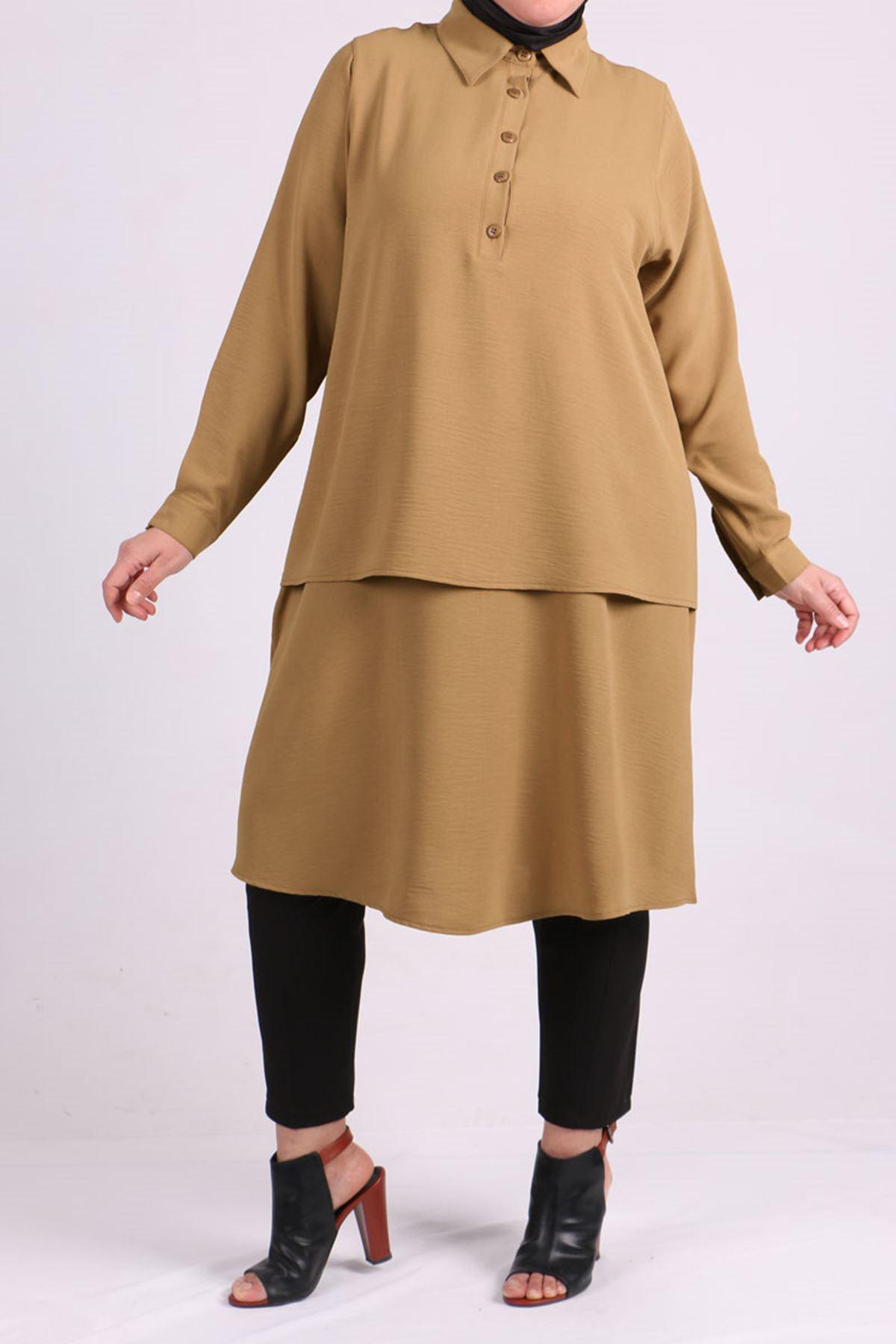 8443 Plus Size Tunic- Dark Mink