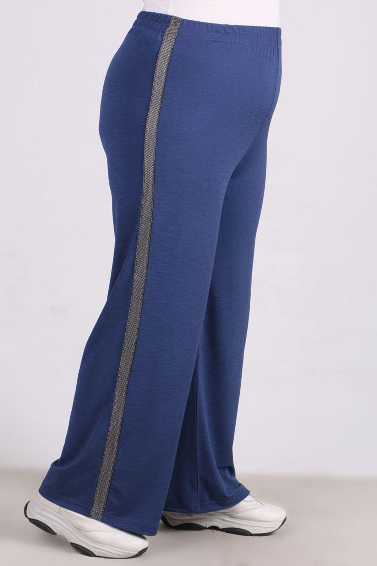 9141 Plus Size Pants - Indigo