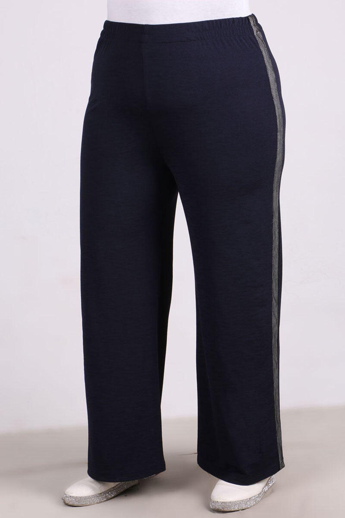 9141 Plus Size Pants - Navy Blue