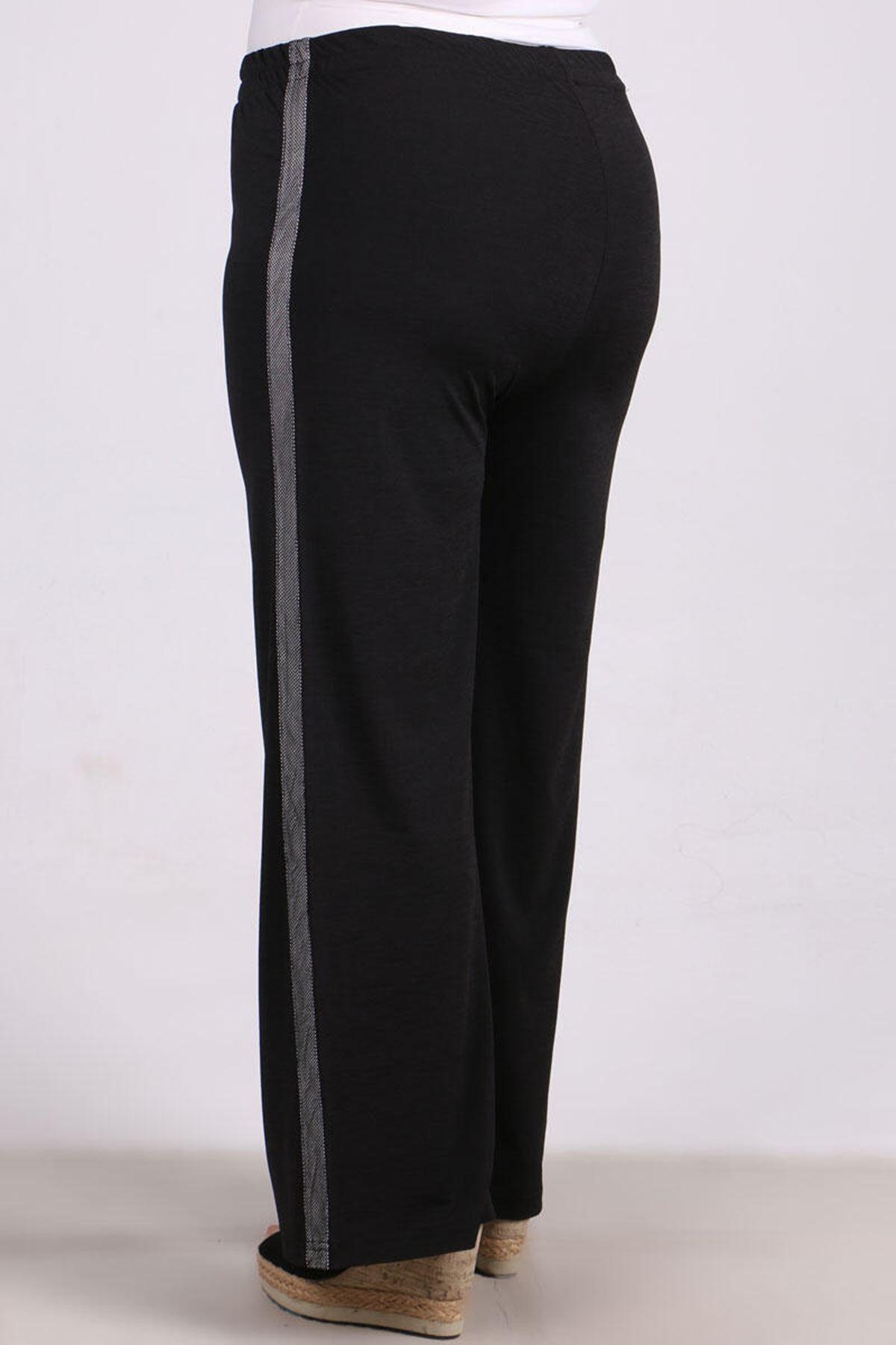 9141 Plus Size Pants - Black