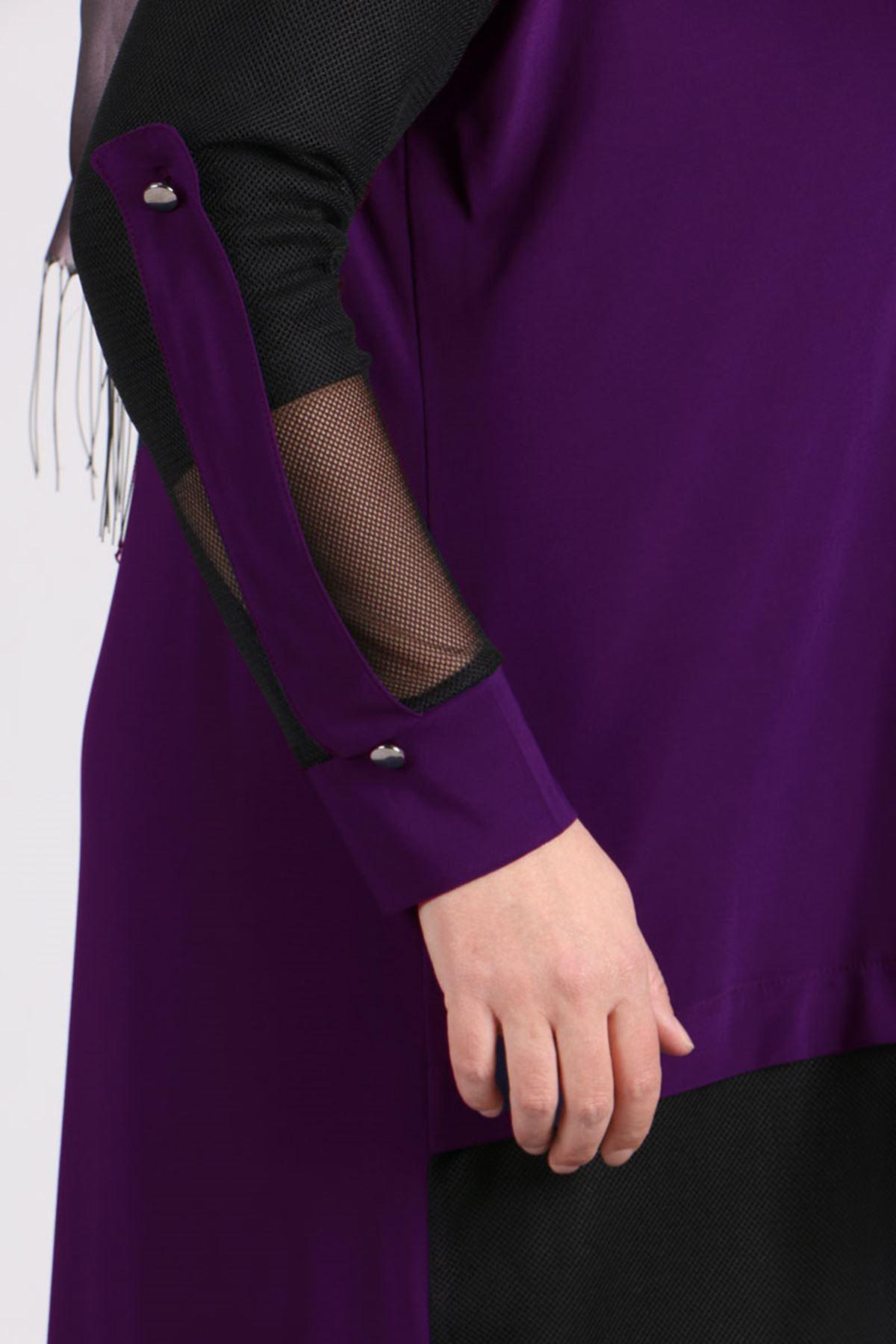 3151 Plus Size Sandy Jacket - Purple