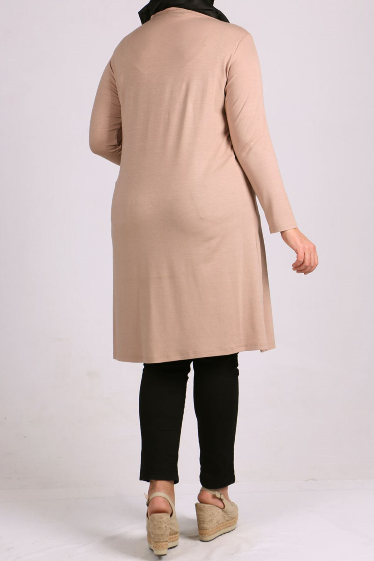 8451 Plus Size Tunic - Stone