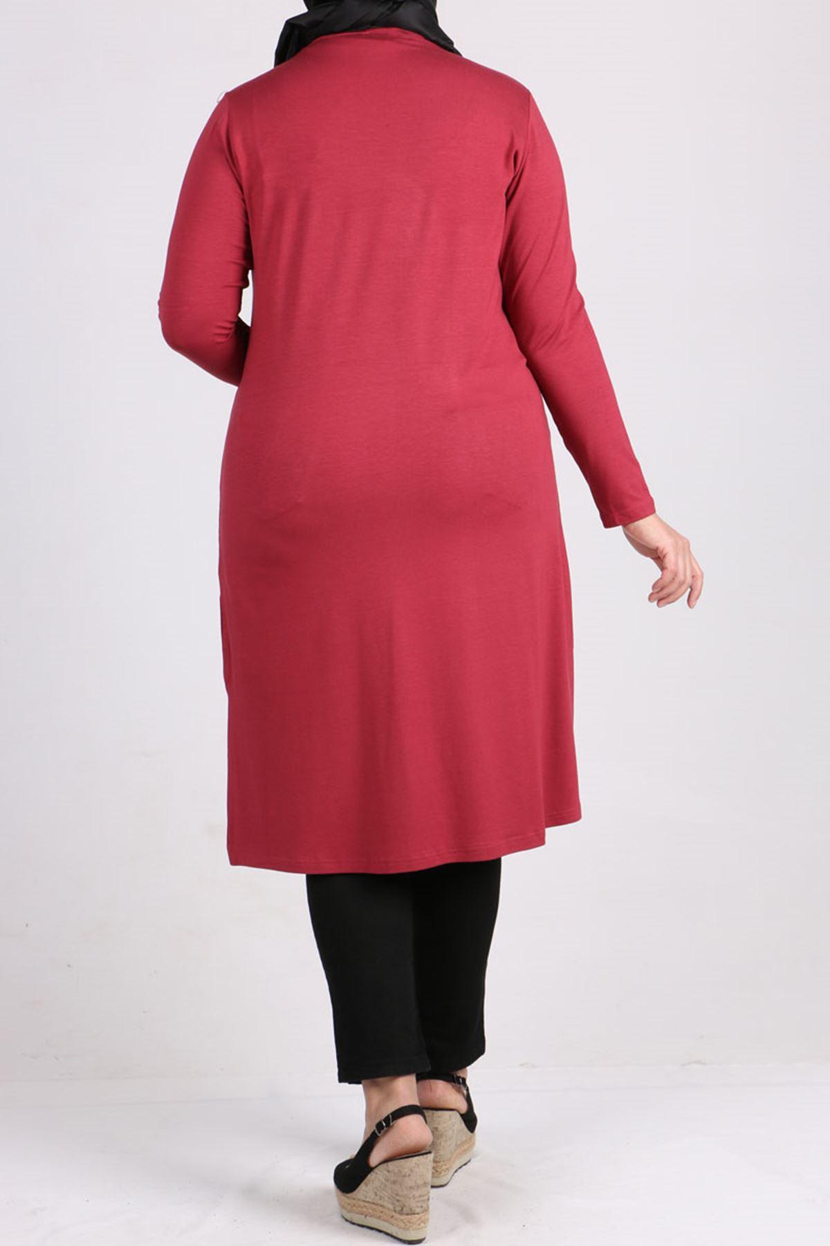 8451 Plus Size Tunic - Dark Rose