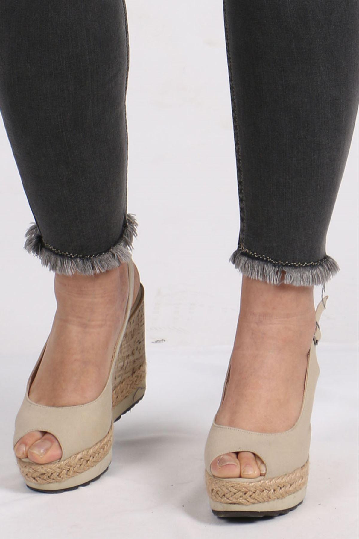 9138 Plus Size Elastic Waist Skinny Leg Jeans - Anthracite