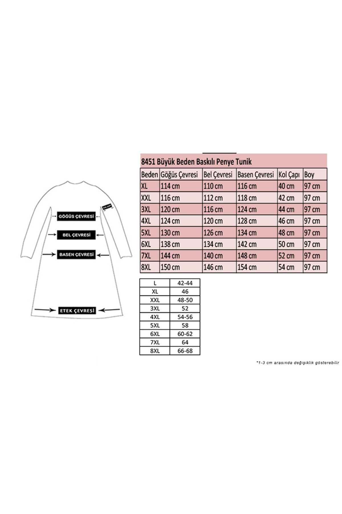 8451 Plus Size Tunic - Petrol