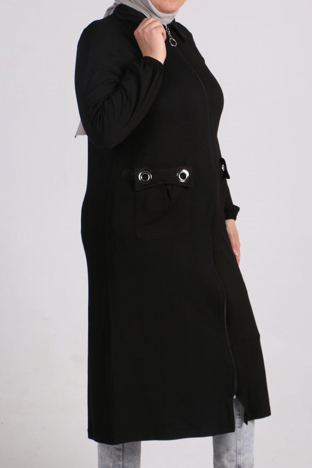 3154 Plus Size  Jacket - Black