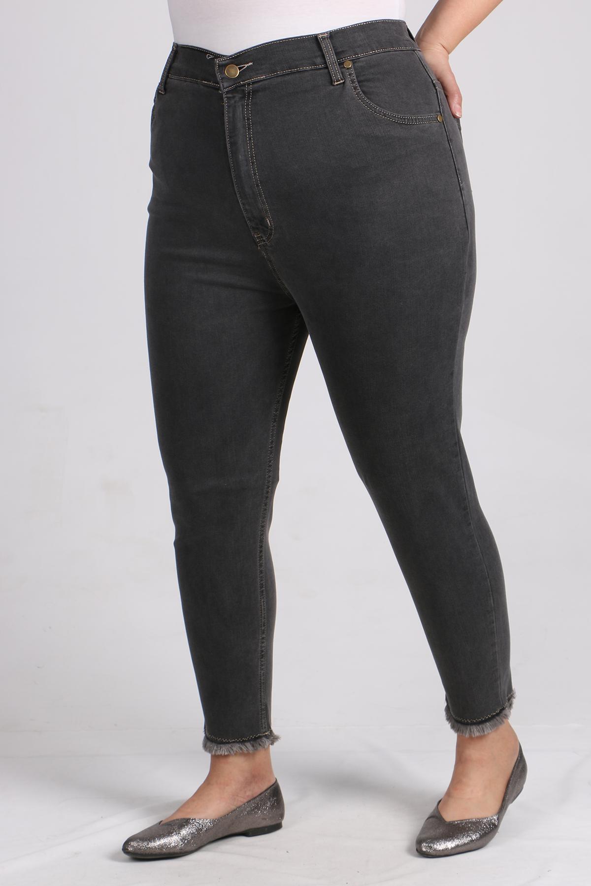 9112 Plus Size Skinny Leg Jeans - Anthracite