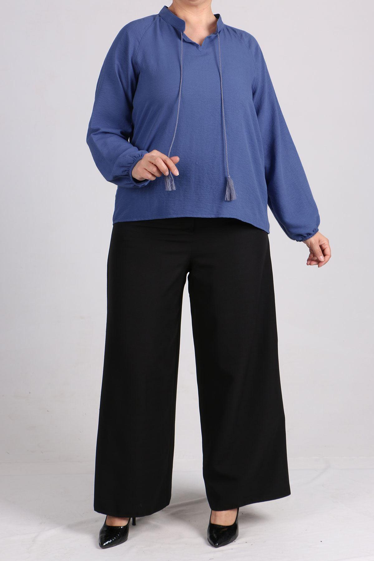 8441 Plus Size Short Tunic - Indigo