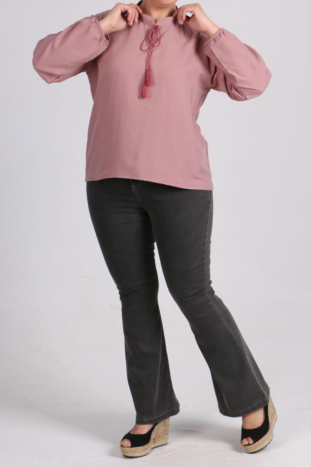 8441 Plus Size Short Tunic - Dusty Rose