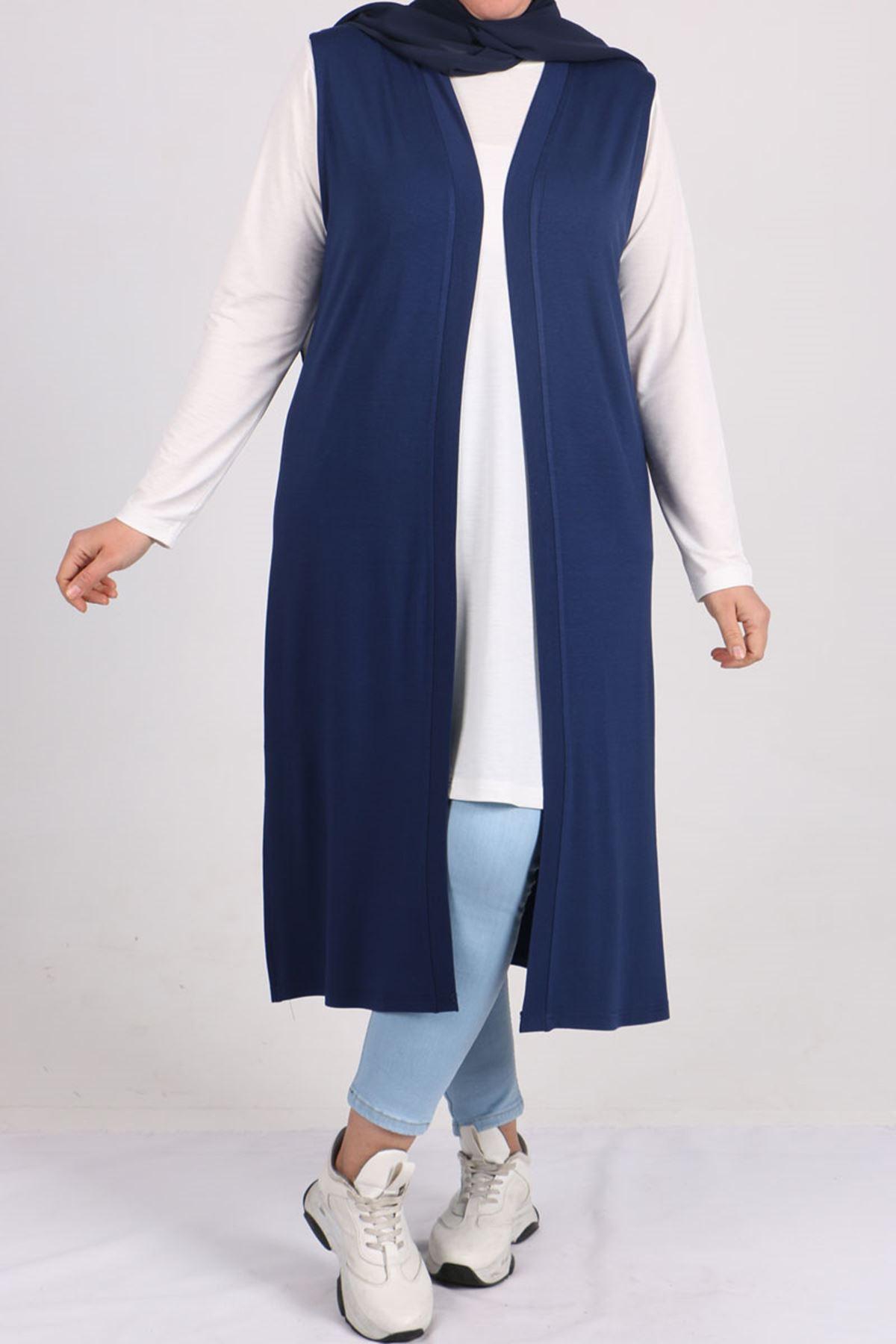 4007 Plus Size (Wear & Go) Vest - Indigo
