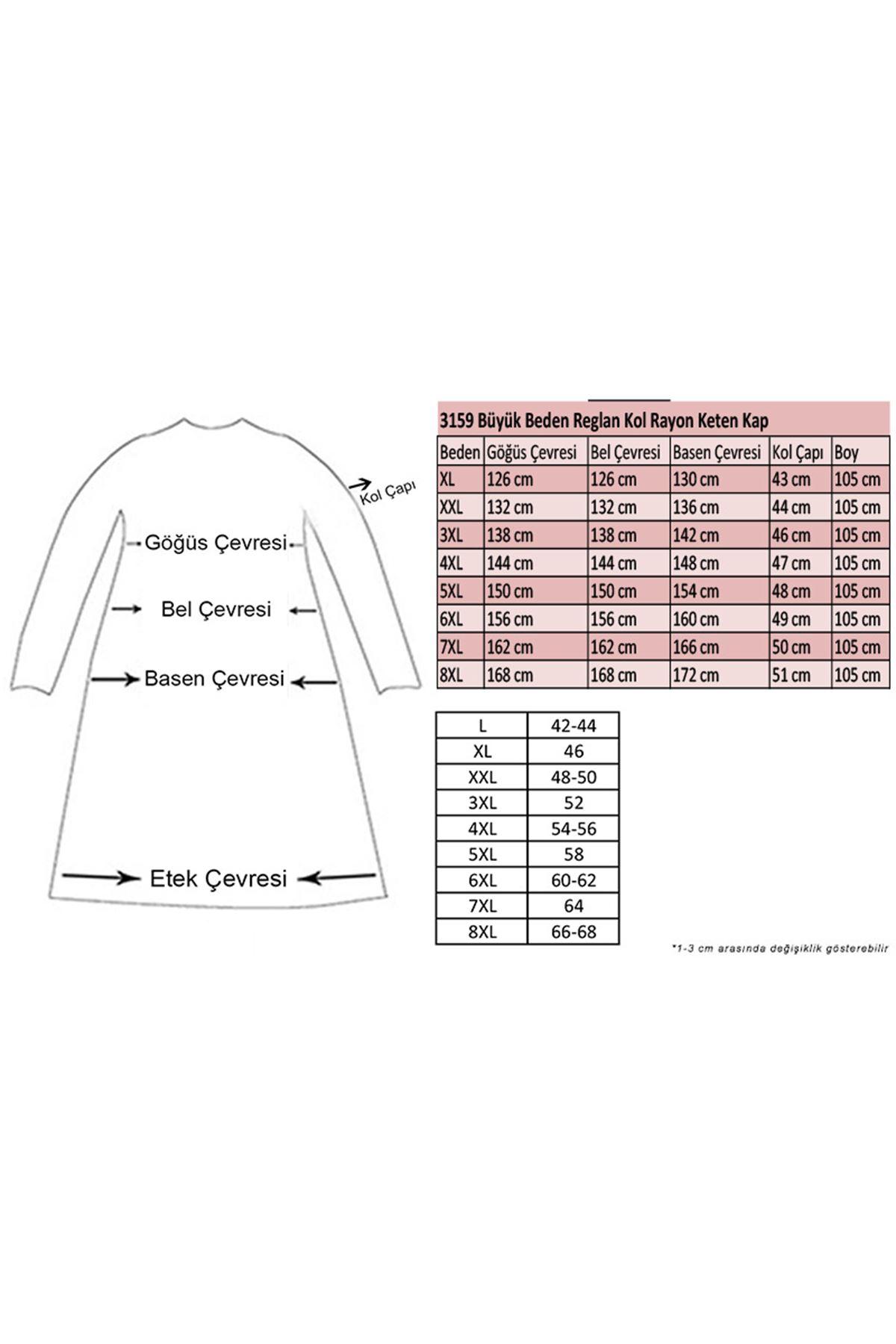 3159 Plus Size  Raglan Sleeve Rayon Linen Coat - Terra Cotta