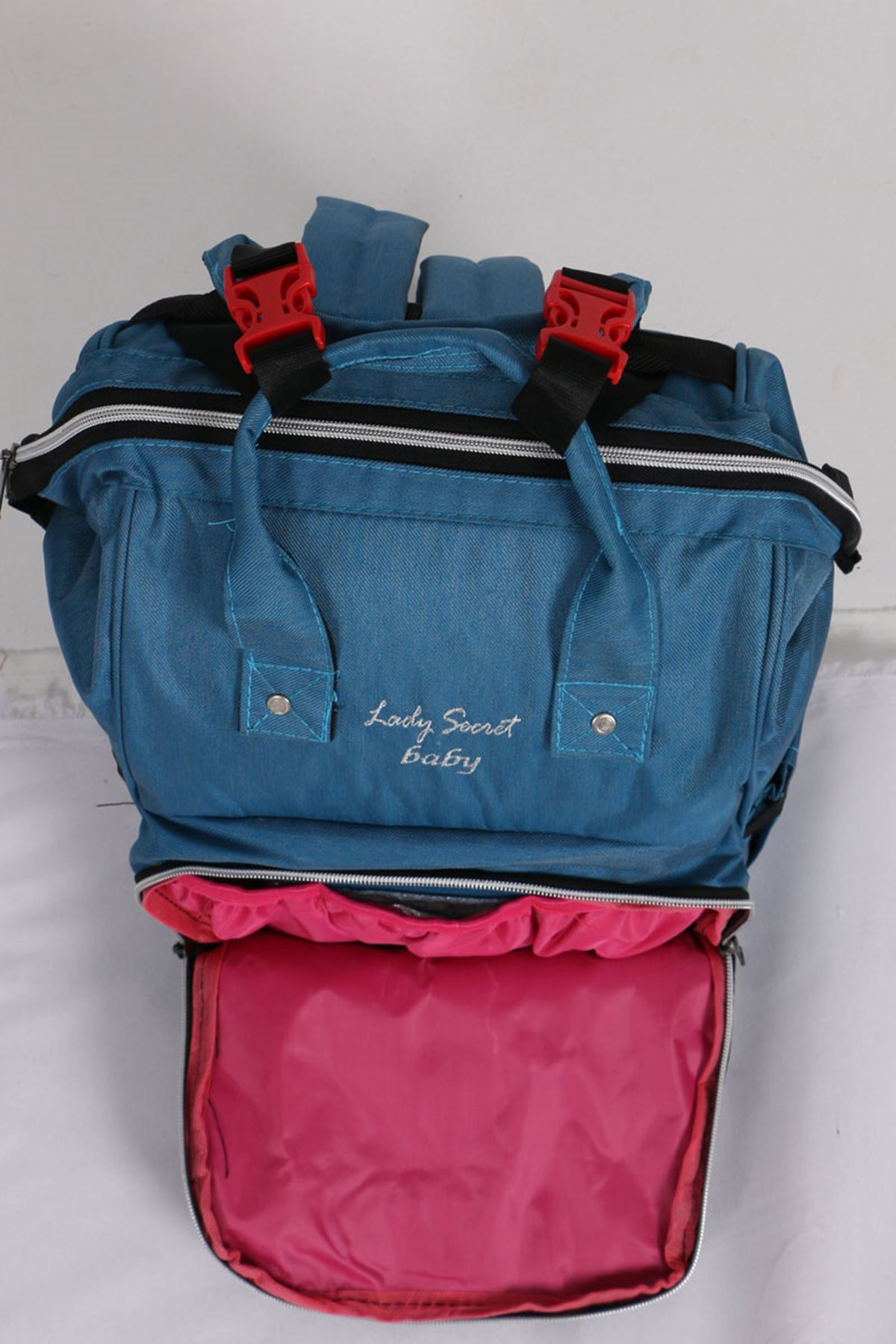 19033 Functional Mother Baby Bag- Petrol Blue