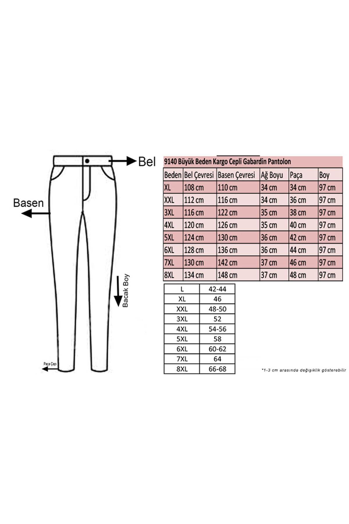 9140 Plus Size Cargo Pants with Pockets - Claret Red
