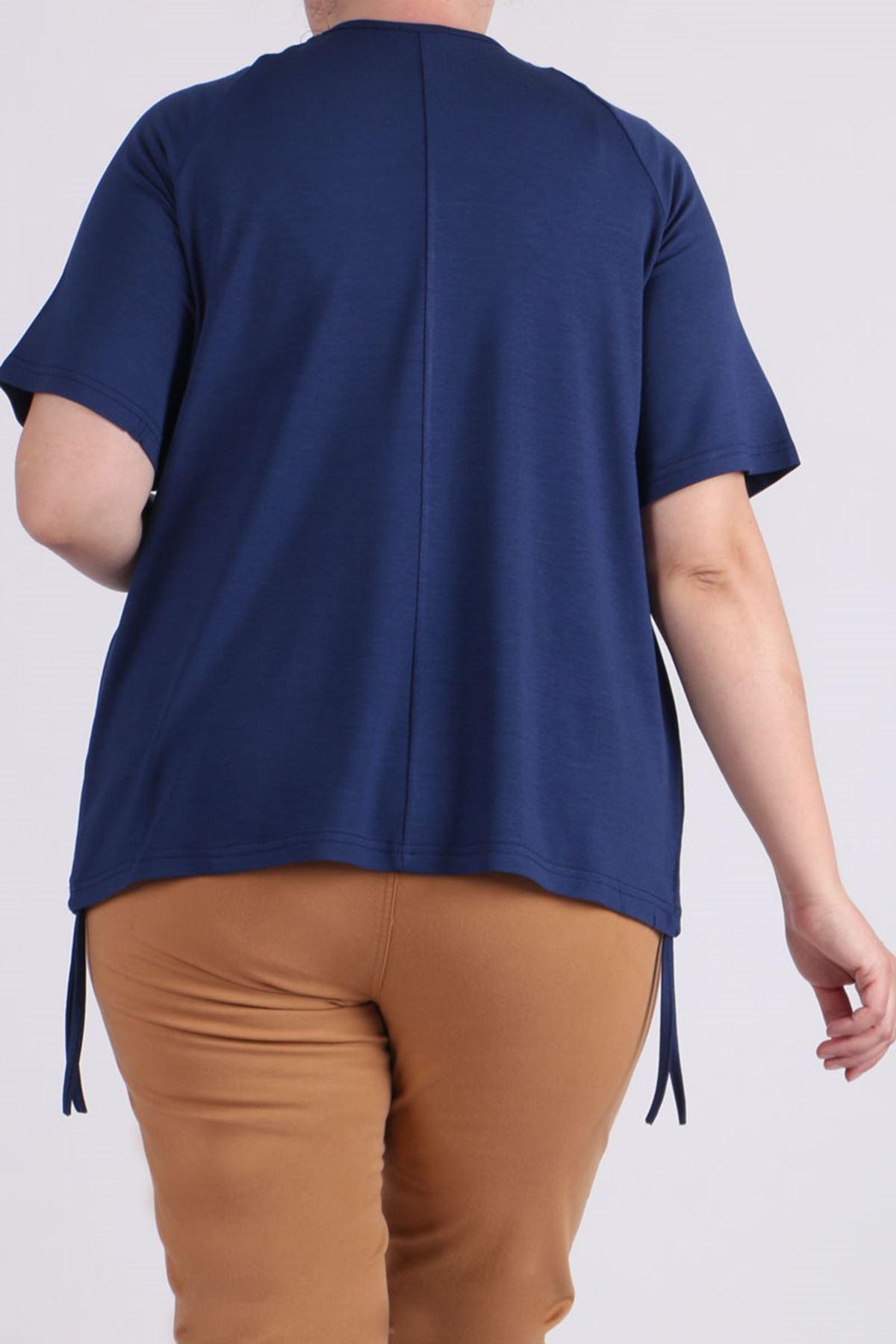 8530 Plus Size Raglan Sleeve T-Shirt - Indigo