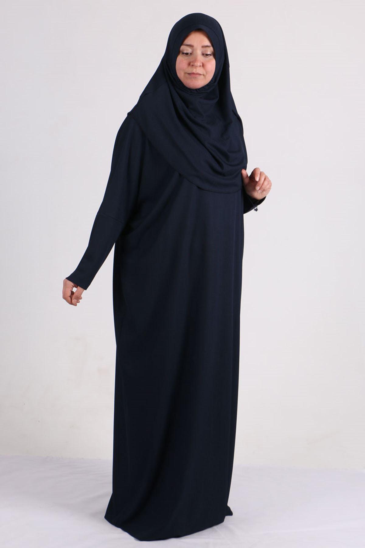 2094 ملابس صلاة بمقاسات كبيرة - كحلي