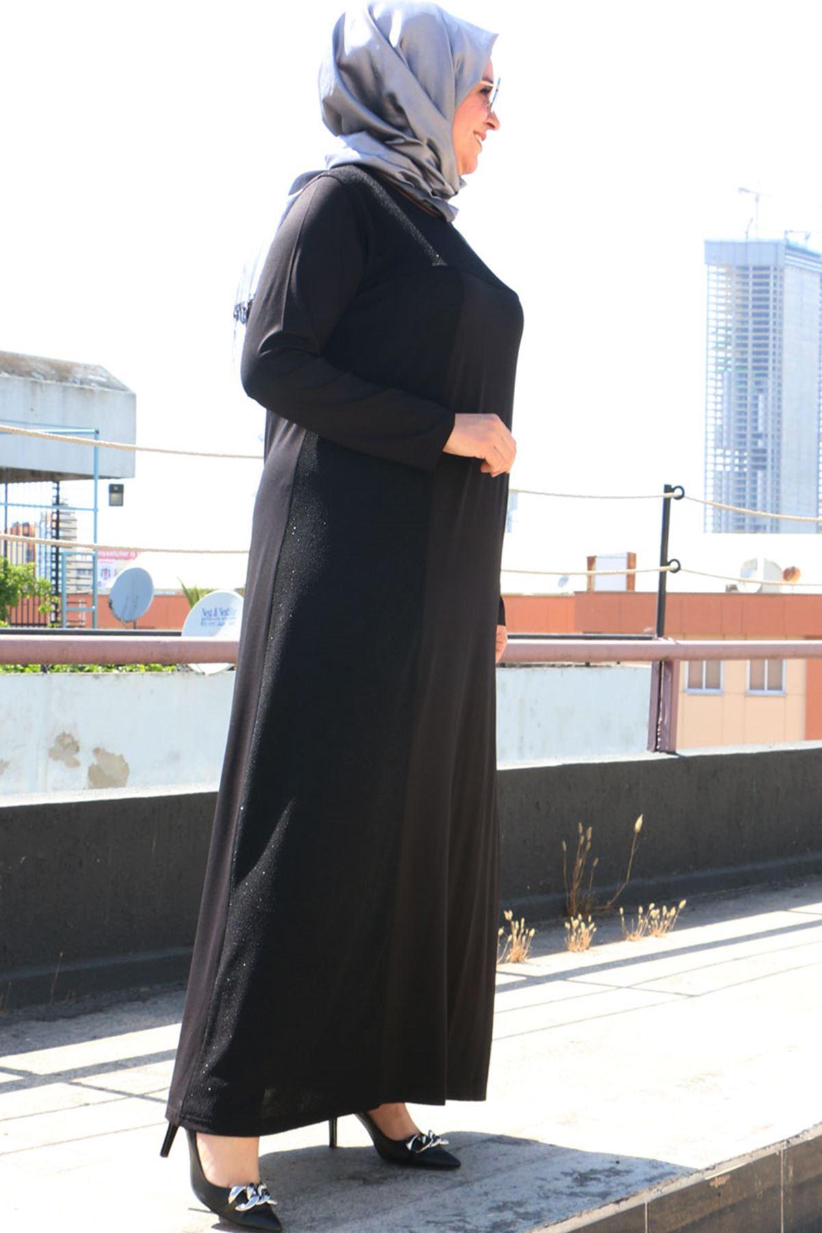 2092 Plus Size Dress - Black