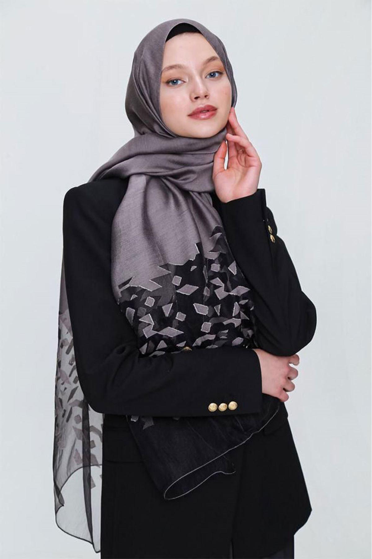 14025 Miray İbiza Shawl - Mink