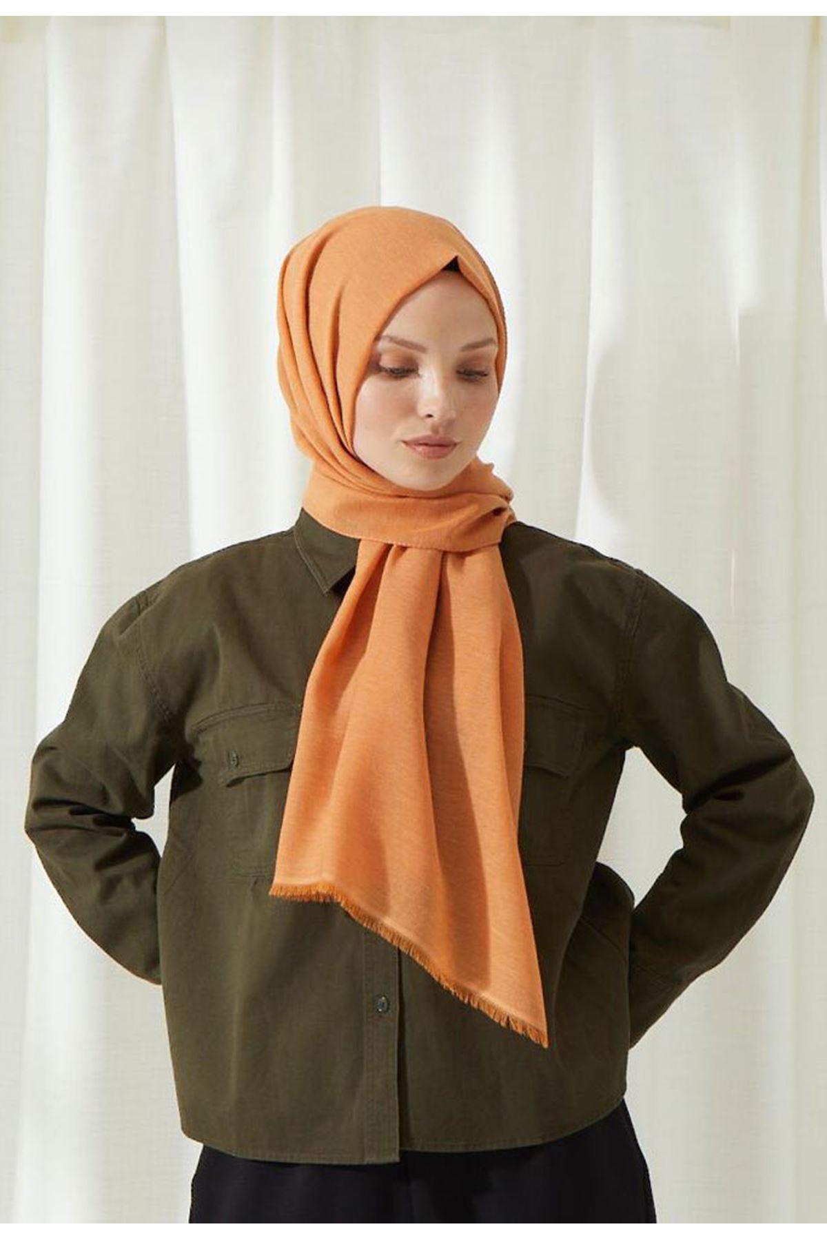 14027 شال قطني - برتقالي