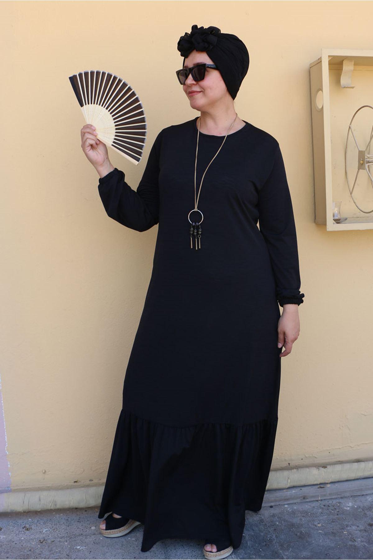 2099 فستان مقاس كبير - اسود