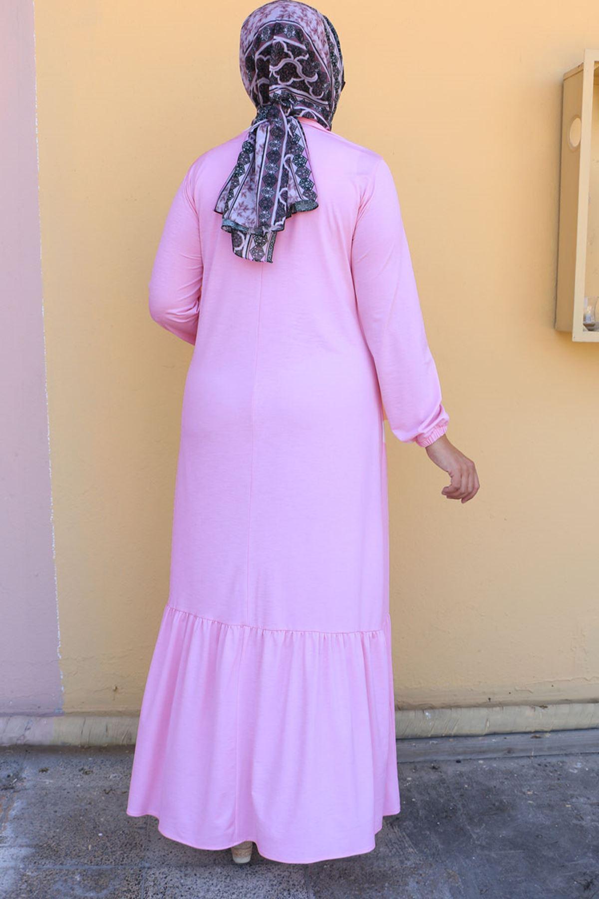 2099 فستان مقاس كبير - بودرة