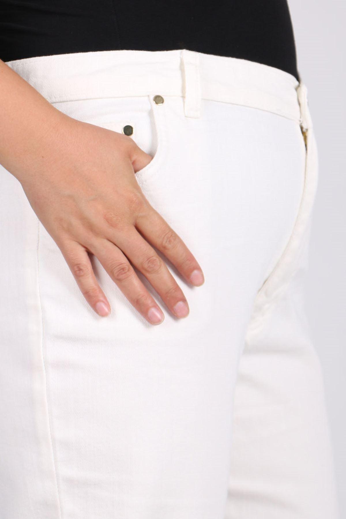 9125-1 بنطلون جينز مقاس كبير - كحلي