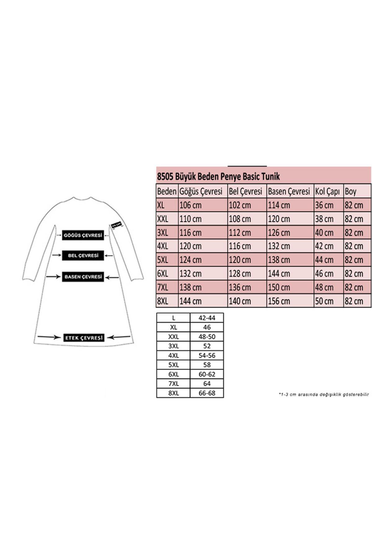 8505 Plus Size Basic Tunic- Plum