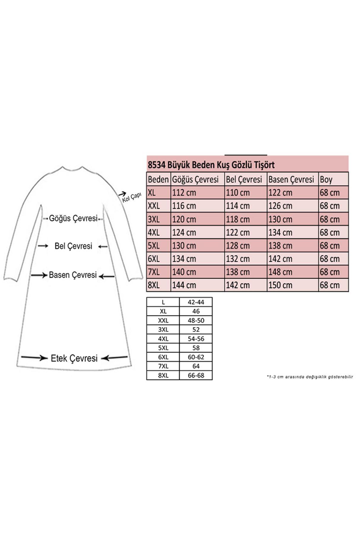 8534 Plus Size T-Shirt - Plum