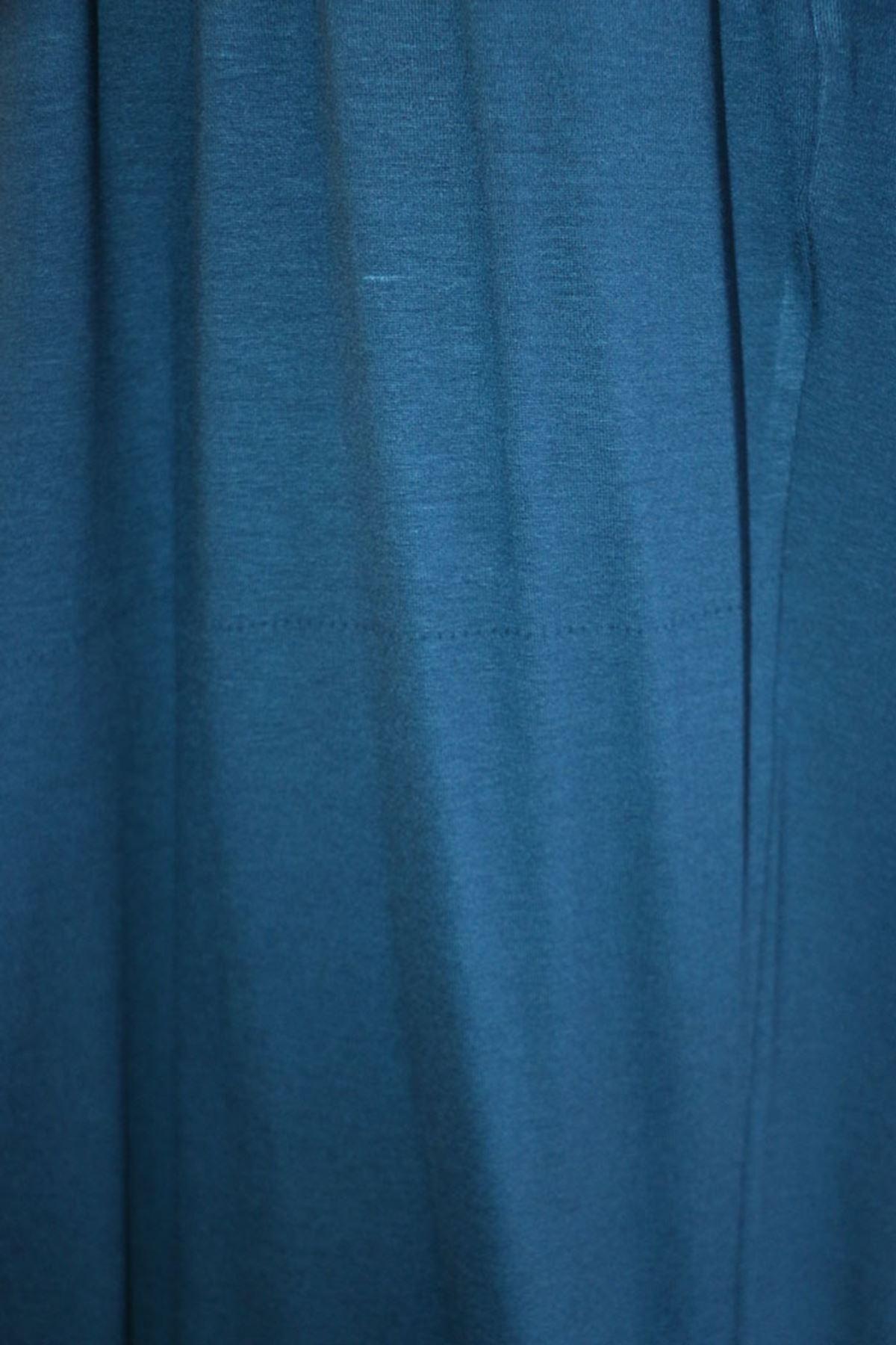 D-9012-1 Büyük Beden Defolu Beli Lastikli Penye Pantolon Petrol