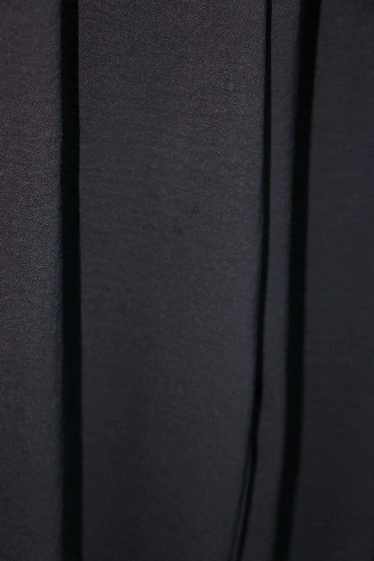 D-27703 Büyük Beden Airobin Çift Kat Pantolon- Siyah
