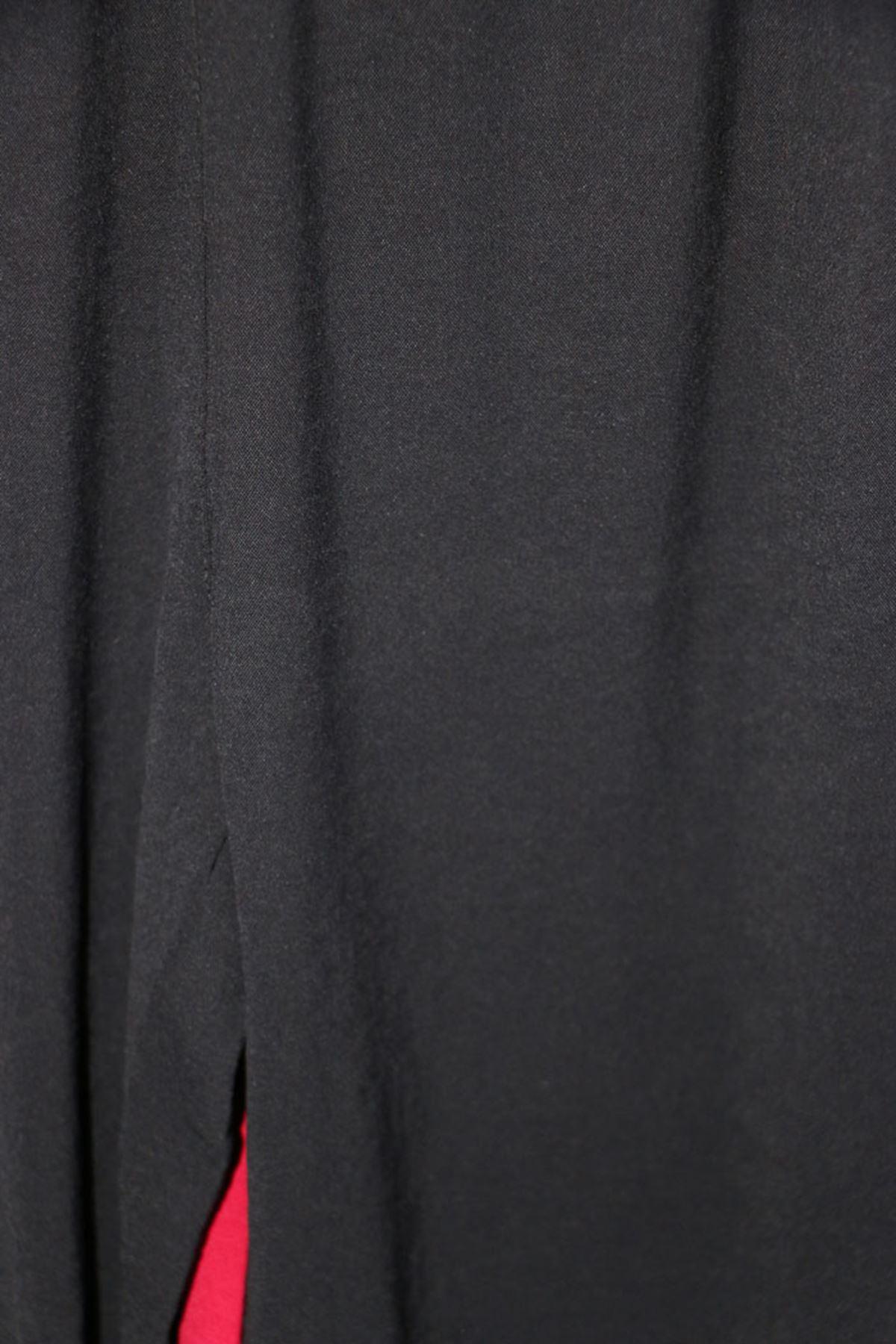 D-27706 Büyük Beden Defolu Mikro Krep Pantolon - Siyah