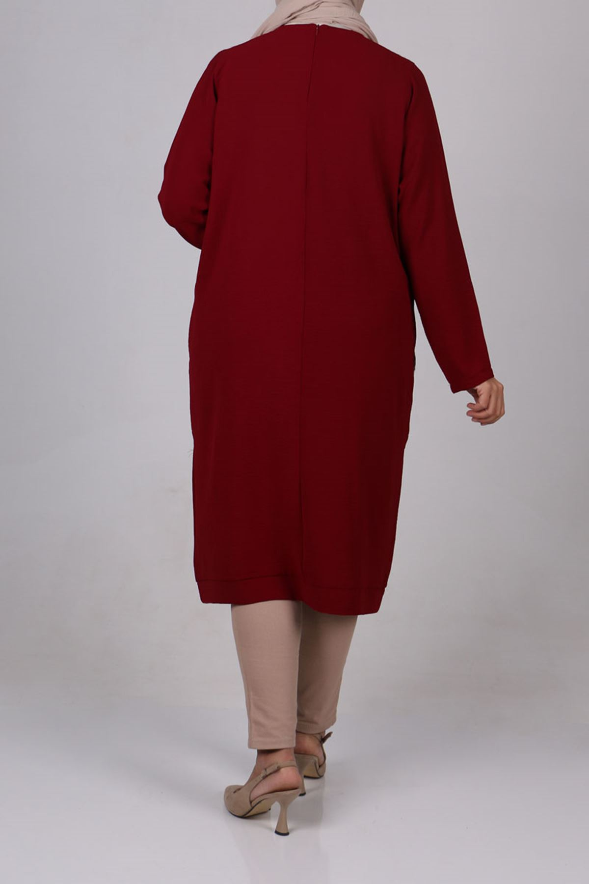 8426 Plus Size Tunic - Coral Pink