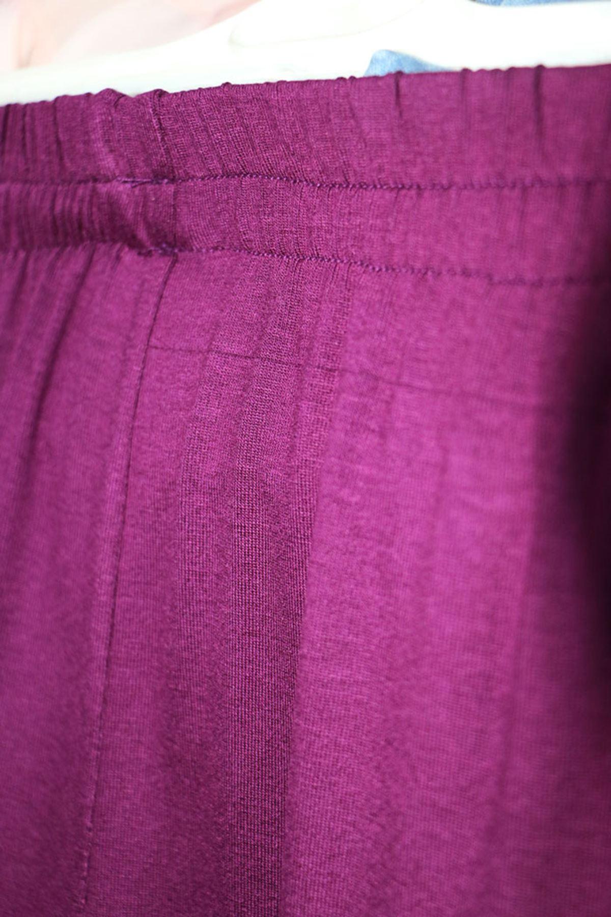 9012 بنطلون مرن الخصر و مقاس كبير - لون القهوة