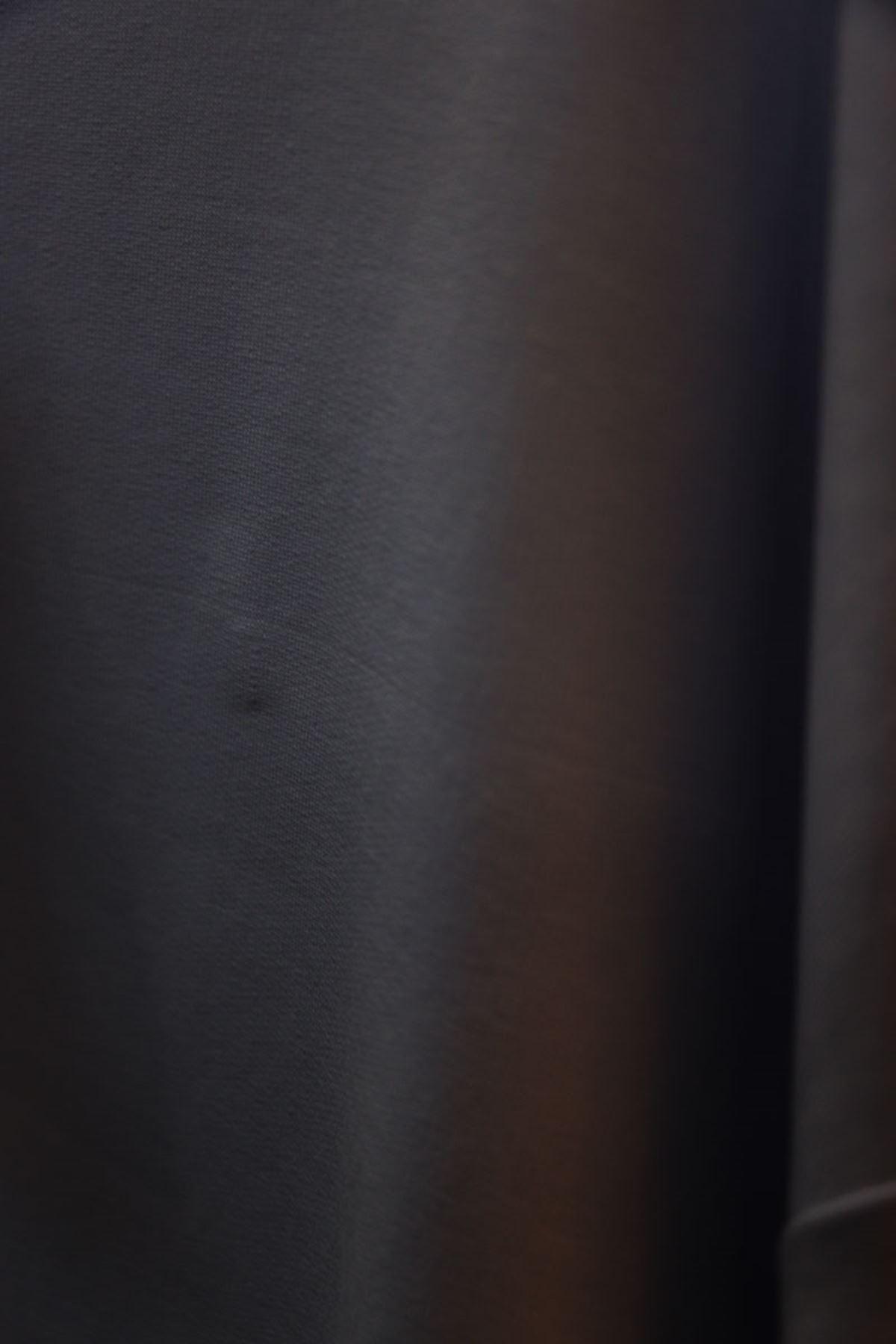 D-11951 Büyük Beden Renk Kombinli İki İplik Defolu Tunik - Siyah