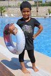 1708 Kids Swimsuit- Black