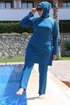 3215 Plus Size Hijab Swimsuit - Petrol