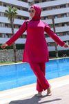 3215 Plus Size Hijab Swimsuit - Plum